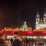 Prague: Old towns square by night