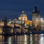 Prague: Charles Bridge by night