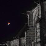 Blutmond an der Elisabethkirche in Marburg