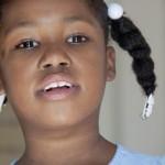Lachendes Kind in der Schule von L'Arche Haiti in Chantal