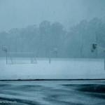 Uni-Stadion im Schnee