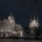 Erfurter Dom zur blauen Stunde