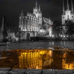 Erfurter Dom und Spiegelung