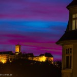 Wartburg bei Sonnenuntergang