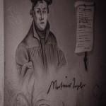 Luther als Graffiti in Eisenach