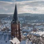 Lutherkirche und Schneemann