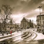 Straßenszene im Schnee