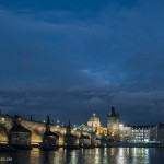 Prague: Charles Bridge by night