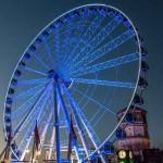 Düsseldorf Riesenrad bei Nacht