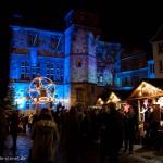 Weihnachtsmarkt vor dem Marburger Rathaus