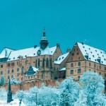 Marburger Schloss mit Schnee