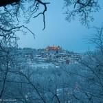 Marburger Schloss im Schnee