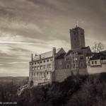 Wartburg als schwarz-weiss Foto