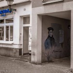 Luther als Graffiti in Eisenach